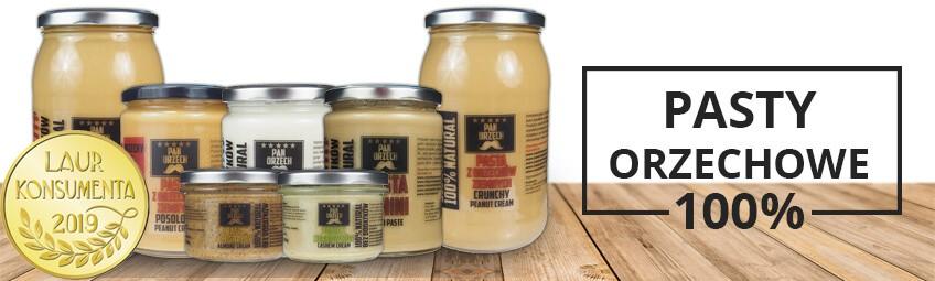 100% Pasty i kremy orzechowe z Złotym Laurem Konsumenta 2019